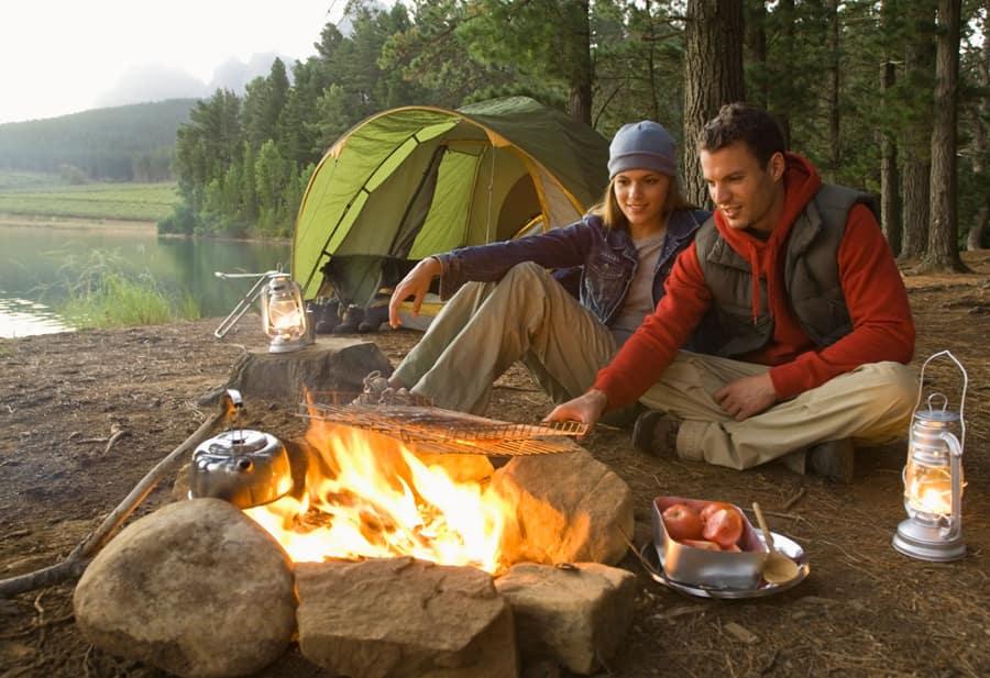 kết hợp trekking, hiking với cắm trại