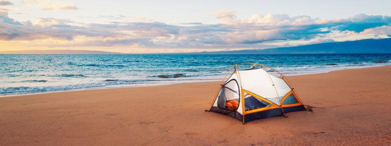 cắm trại tại các khu du lịch
