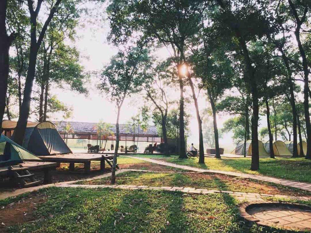 địa điểm tổ chức camping