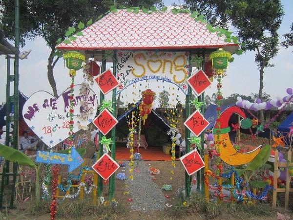 Vẽ cổng trại đẹp 09