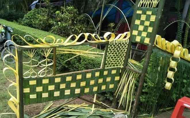cổng trại bằng lá dừa 01