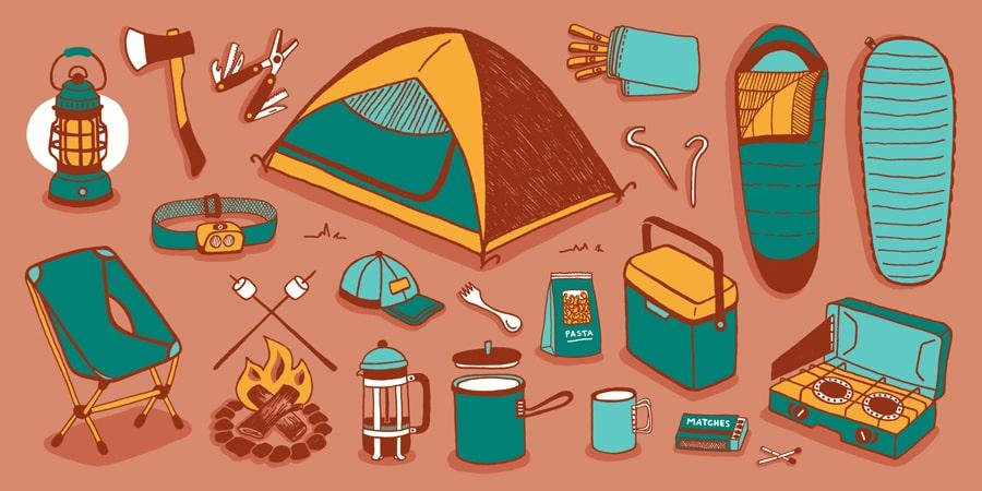 Sử dụng những đồ cần thiết khi đi cắm trại